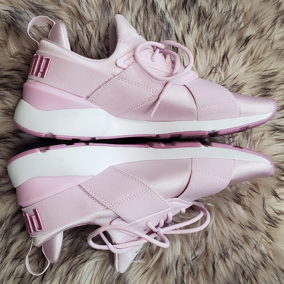 Pink PUMA Muse Satin EP Sneakers